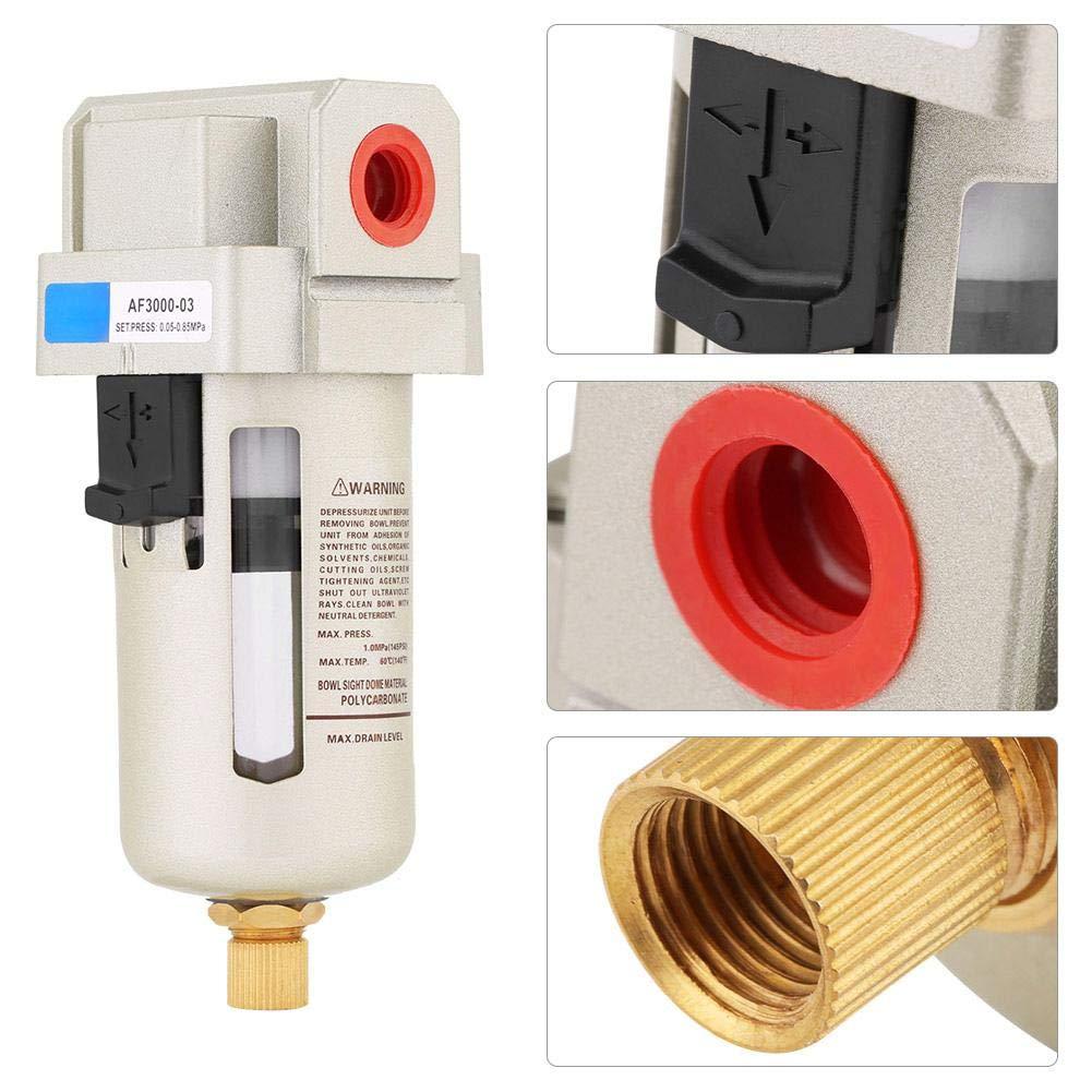 Filtre /à eau compresseur /à air comprim/é AF3000-03 G3//8  Filtre s/éparateur deau en ligne s/éparateur deau