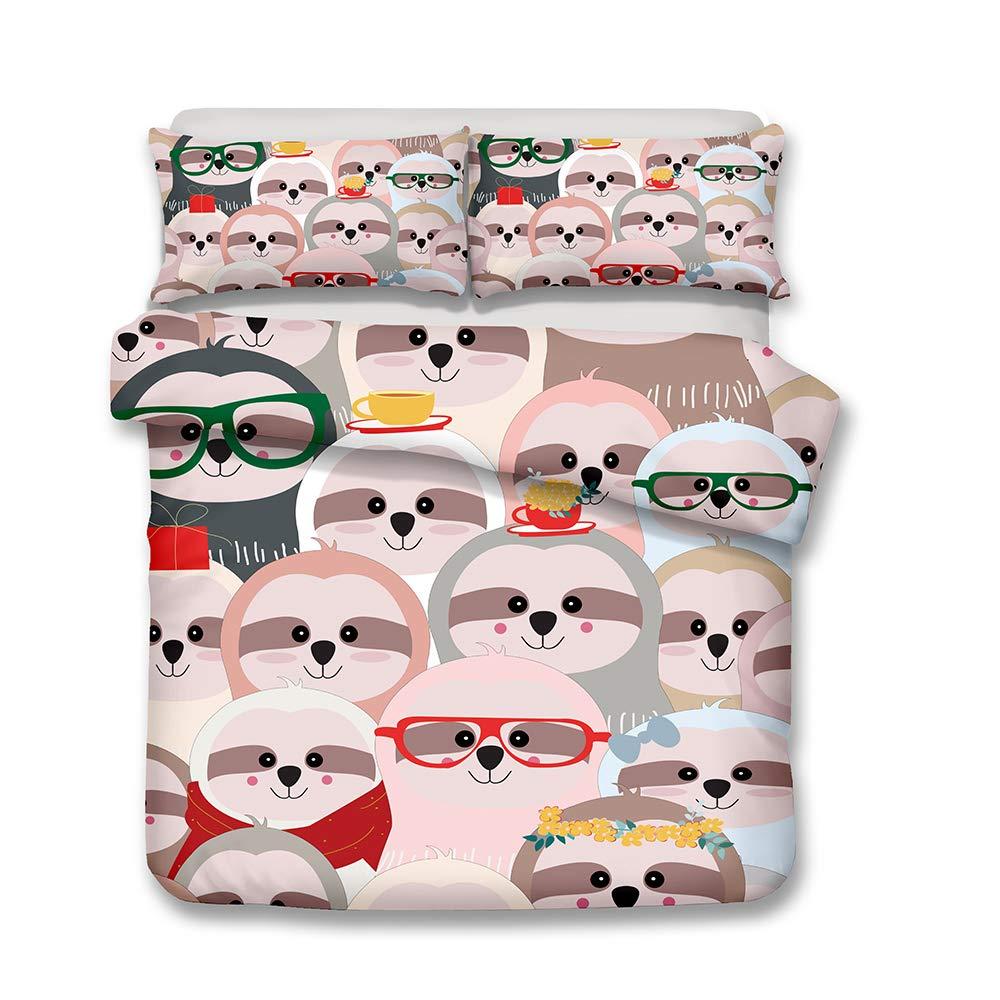 ZHH Dinosaur Duvet Cover Sets Kids Bedding Set Ultra Soft Hypoallergenic Microfiber 3D Animal Pattern Boys Childrens Quilt Cover Bedding Set 1 Duvet Cover 2 Pillowcases Full Size
