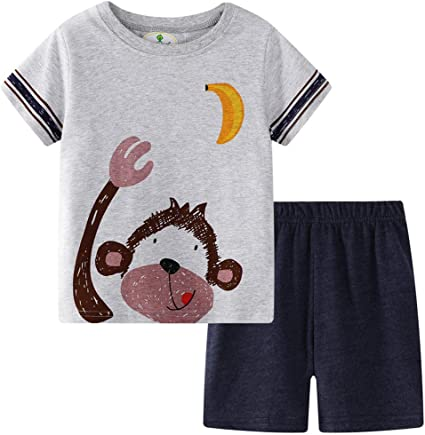 BOYS WHITE COTTON T-SHIRT WITH MONKEY GRAPHIC IN AGE 6-7 YEARS NEW