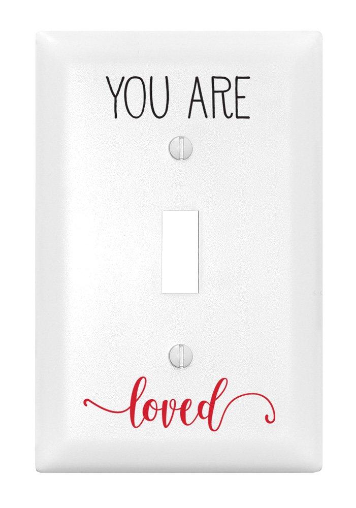 Dexsa You are Loved Let Your Light Shine シングルライトスイッチカバー   B071YJN9HW