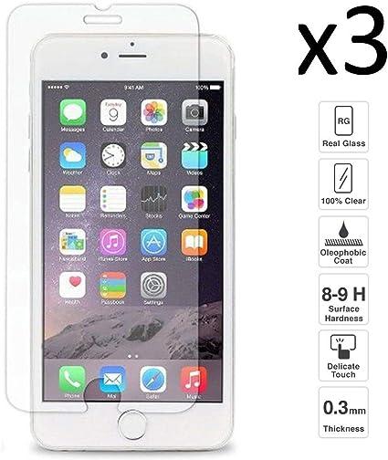 iGlobalmarket [Pack Ahorro - 3 Unidades] Protector de Pantalla iPhone 6 / 6s, Vidrio Templado, sin Burbujas, Alta Definicion, 9H Dureza, Resistente a Arañazos: Amazon.es: Electrónica