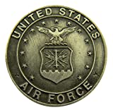 Silver Tone Faithful Protector Pocket Token with Prayer - United States Air Force