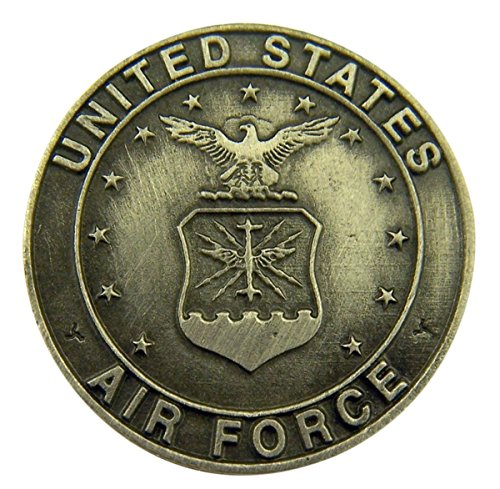 singer star case Silver Tone Faithful Protector Pocket Token with Prayer - United States Air - Medallion Tone