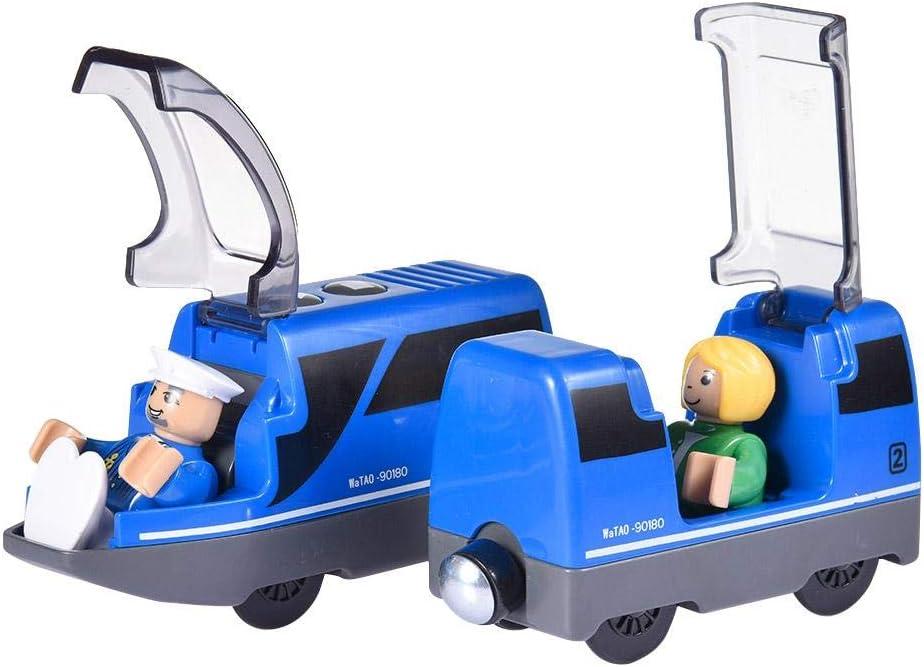 potente juego de tren bala con motor para trenes y v/ías de madera Brio regalo de juguete de tren para ni/ños peque/ños ni/ños y ni/ñas Locomotora de acci/ón a bater/ía m/ás nueva de 2020