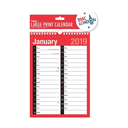 2019 calendar and planner month to viewweek to view a4 extra wide 2