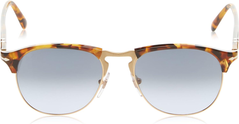 Persol Montures de lunettes Homme Marron (Madreterra/Light Blue Gradient Dark Blue)