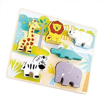 Holzspielzeug Bunte Nette Kreative Tiere Holz Blöcke Lustige Spiele DIY Kinder Lernspielzeug