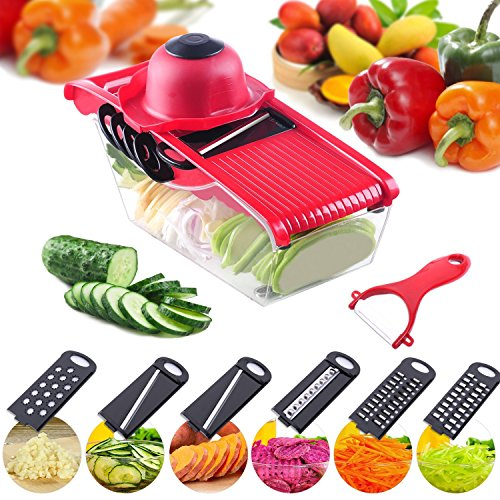 Yannuo 5 in 1 Multifunction Manchester Adjustable Manually Vegetable Slicer Kitchen Slicer