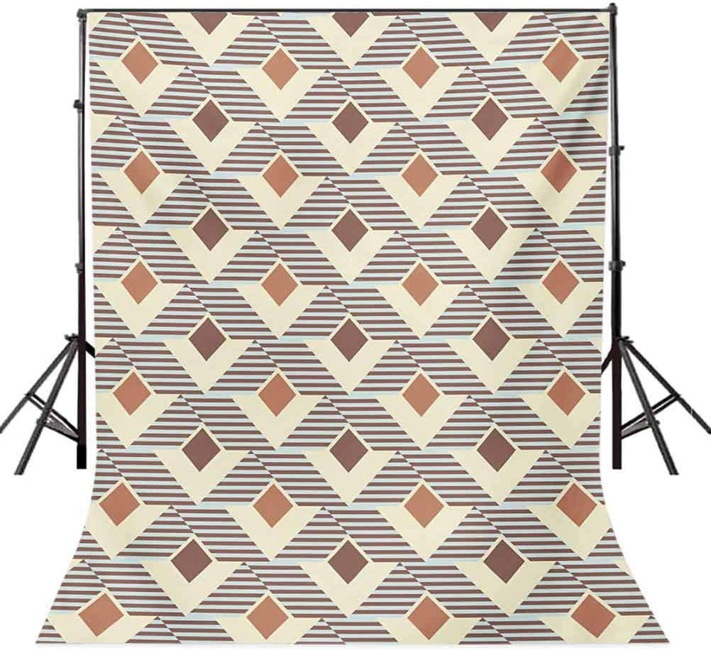 Geometric 10x15 FT Photo Backdrops,Graphic Design Squares Triangles Striped Background Pattern Background for Baby Shower Birthday Wedding Bridal Shower Party Decoration Photo Studio