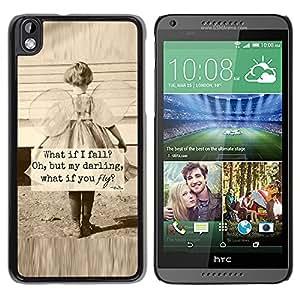YOYOYO Smartphone Protección Defender Duro Negro Funda Imagen Diseño Carcasa Tapa Case Skin Cover Para HTC DESIRE 816 - madre sepia niña amor inspirador