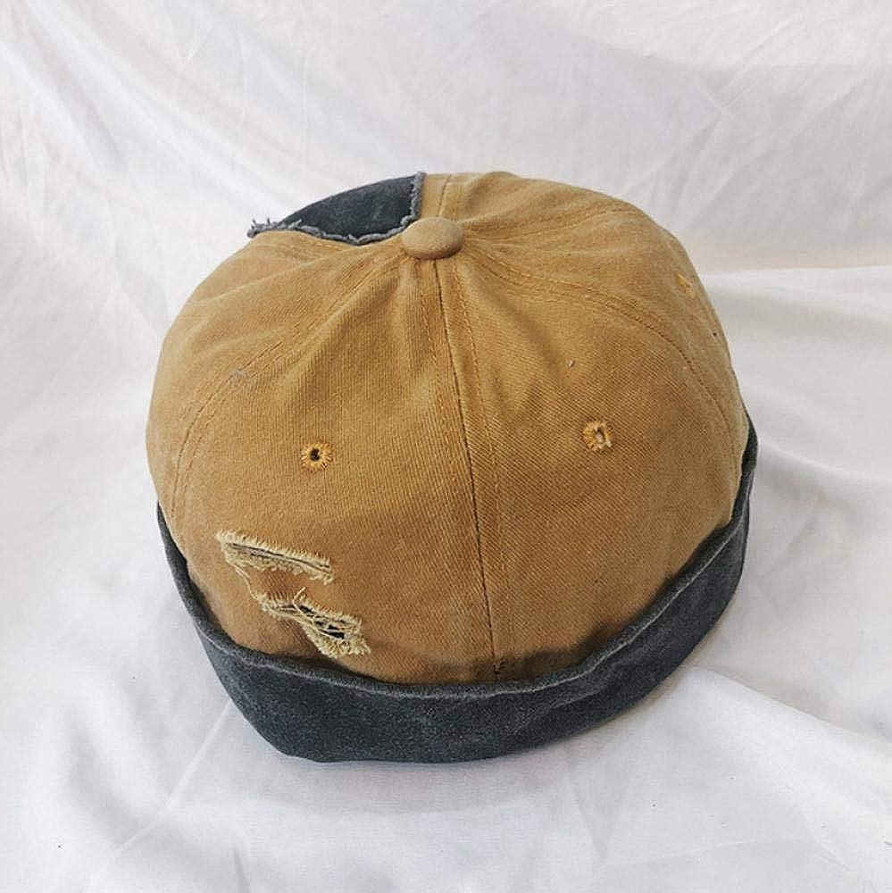 HGHGB Denim Hole Sailor Cap Beanie Skullcap Retro Navy Style Beanie Hat Style Street Hat Unisex Adult