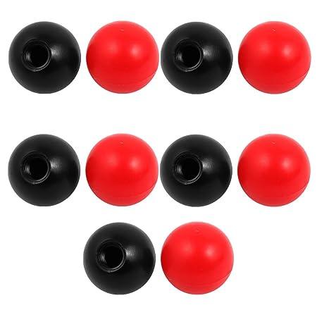 Sourcingmap/® Red Plastic Round Handle Ball Knob M10 Threaded 40mm Dia Machine Tools
