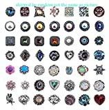 Efivs Arts 20pcs Mixed Random Rhinestone Snap Chunk Press Button Jewelry Charms 18mm for Snap Jewelry Making