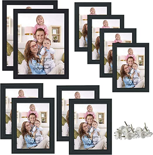 AS Beautiful Wedding Wall Hanging Wood Gallery Collage Picture Frames Set 26 Pcs