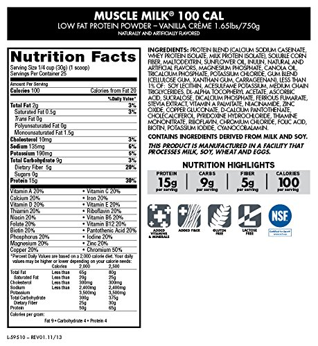 Muscle Milk Nutrition Label Nutrition Ftempo