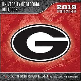 University Of Georgia Calendar 2019 University of Georgia Bulldogs 2019 Calendar: Lang Holdings Inc