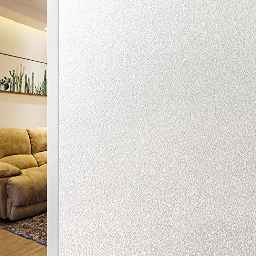 Artviva Etched Glass Window Film Self Adhesive Privacy Vinyl Film Frosted Window Treatment for Home/Bathroom/Office Privacy Protection or Decoration-Heat Control, Anti-UV, Easy Installation 18