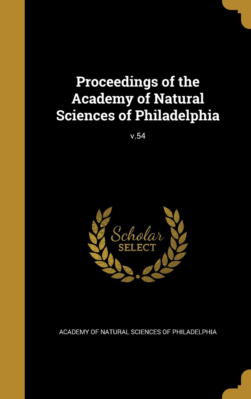 Download Proceedings of the Academy of Natural Sciences of Philadelphia; V.54 ebook