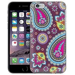 Apple iPhone 6 Case, Snap On Cover by Trek Fun Paisleys on Plum Case