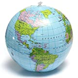 1pc Globe Map Inflate Inflatable Round Earth World Teacher Beach Ball Geography