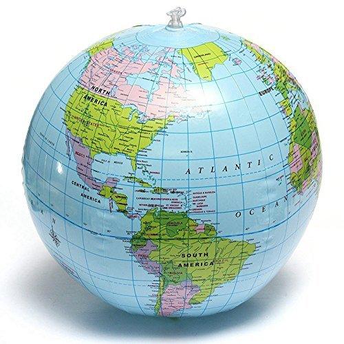 Round Globe Map.1pc Globe Map Inflate Inflatable Round Earth World Teacher Beach