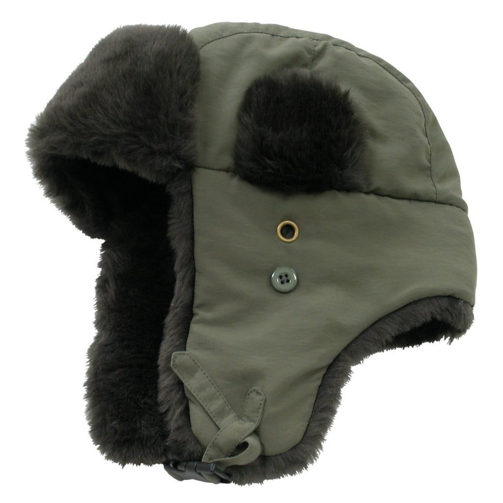 Decky Faux Fur Trooper Aviator Style Winter Hat (Many Colors Available)