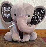 "Product review for Personalized Decorative 9"" Stuffed Grey Elephant. Great for Baby Shower or Birthday Gift."