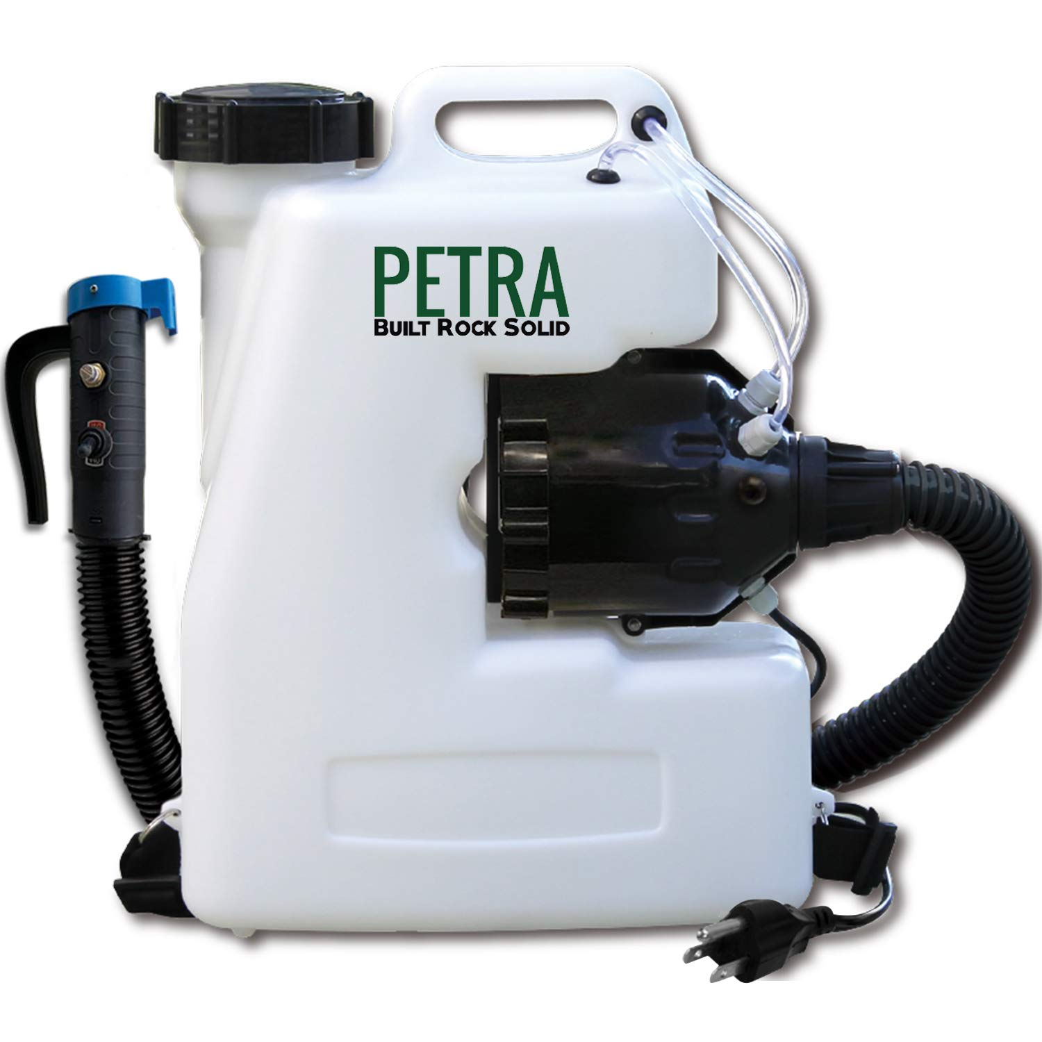 Petra Electric Fogger Atomizer Backpack Sprayer - 4 Gallon Mist Blower with Extended Commercial Hose for Pest Control - Insect, Bug & Mosquito Fogger