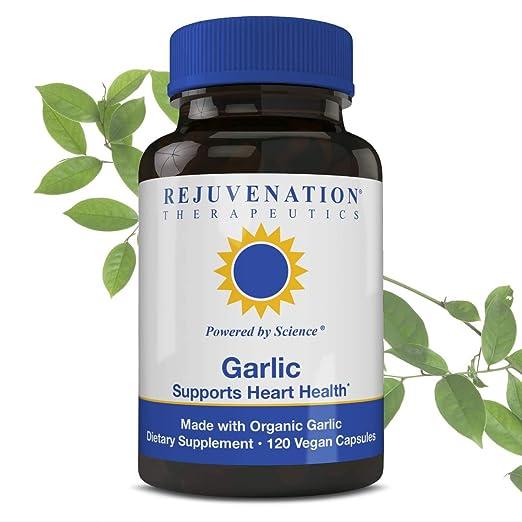 Rejuvenation Therapeutics Pure Organic Garlic Multivitamin Health Supplement