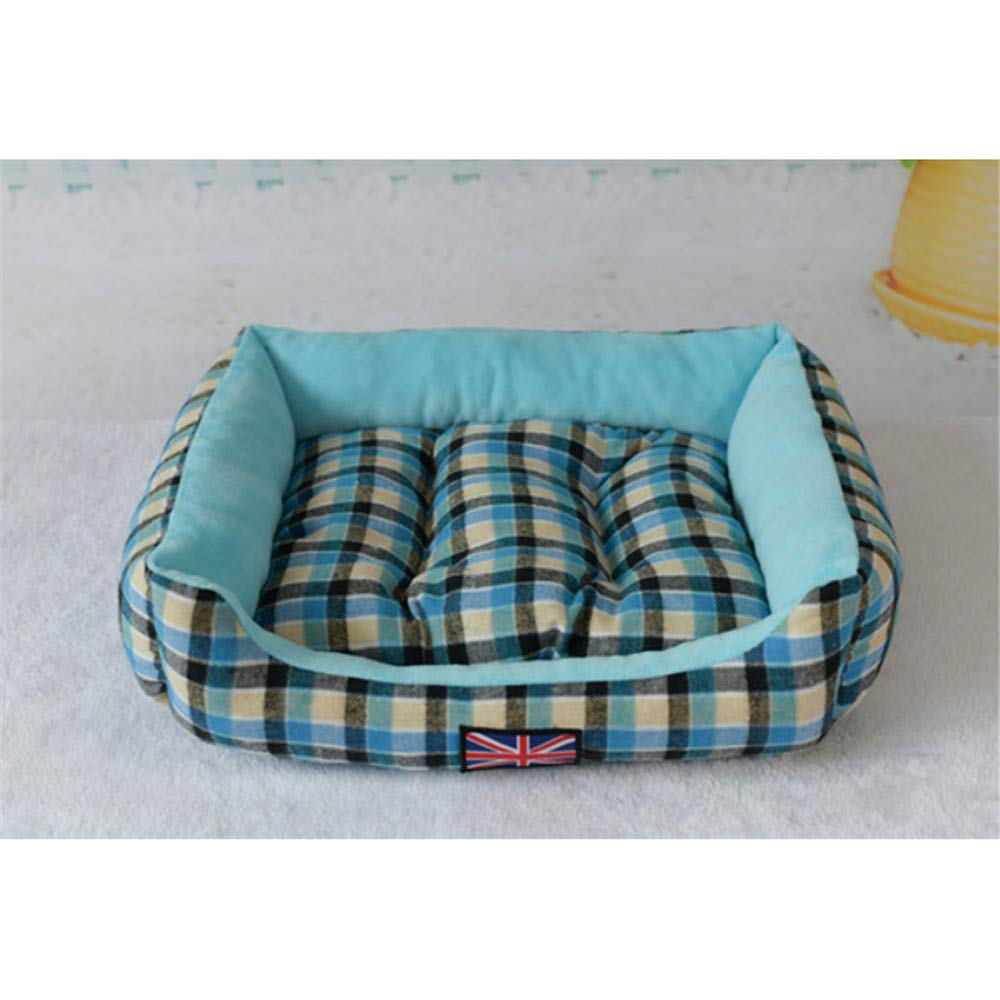 Wuwenw Pet Cat Dog Beds Dogs Sofa Mat para Large Small Pets Warming Sleep Cojín Square Kennel Nest, M, A