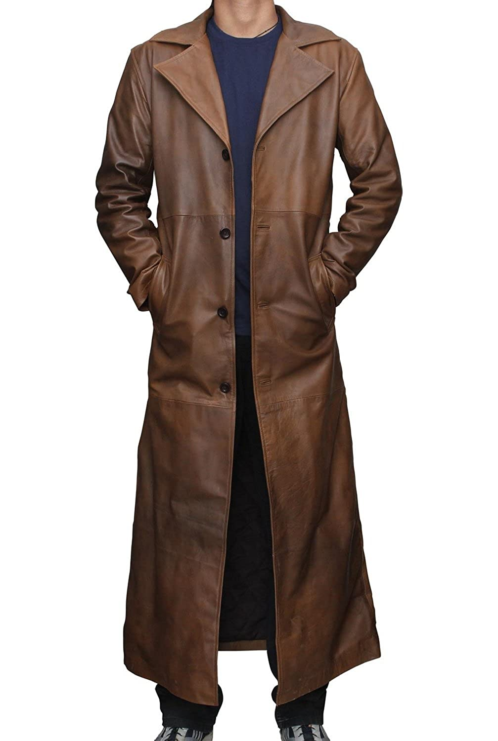 Batman Brown Knightmare Dawn of Justice Distressed Leather Trench ...