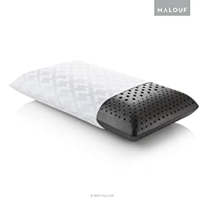 Z Zoned Dough Memory Foam Bed Pillow - Infused with Bamboo Charcoal - Excellent Neck Support - 5-Year Warranty - Queen - Mid Loft