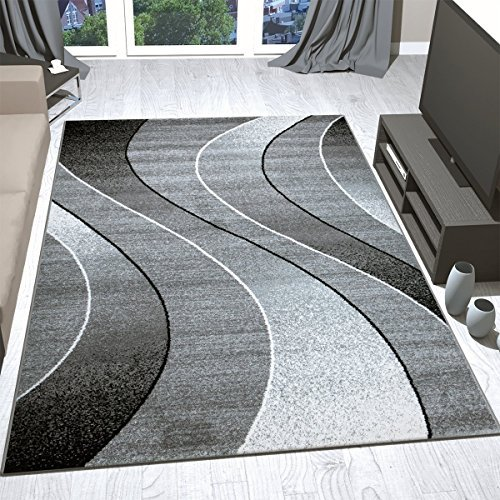 Vimoda Schwarz Teppich Grau Wohnzimmer Elegant Schwarz Vimoda Weiss