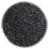 Stiff Black Opalescent Medium Frit - 4oz - 90COE - Made From Bullseye Glass