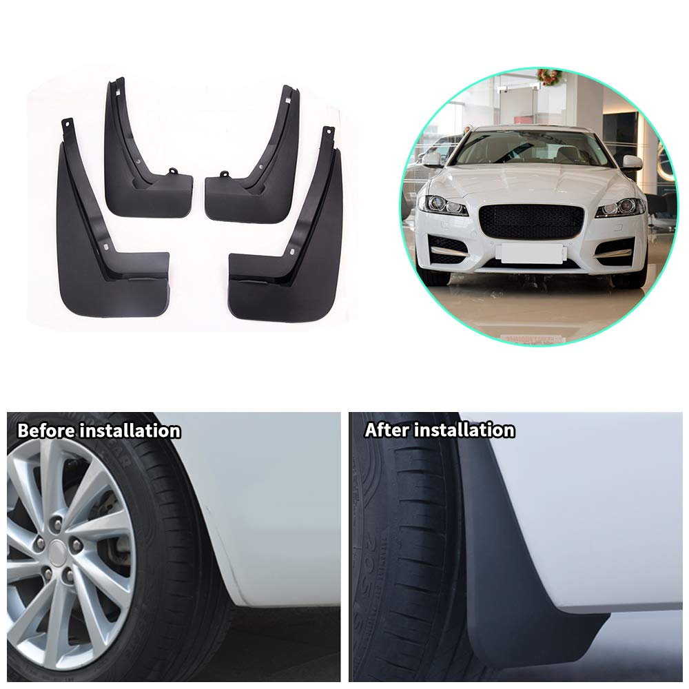 Upgraded Car Mud Flaps Mudguards for JAGUAR F-PACE 2016-2018 Front Rear Splash Guards Car Fender Styling /& Body Fittings Black 4Pcs