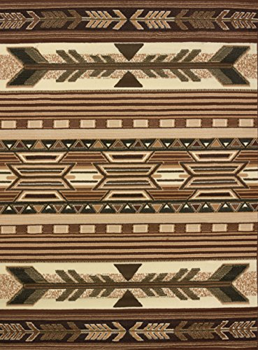 (United Weavers of America Legends Collection Broken Arrow Lodge Rug - 5ft, 3in. x 7ft. 2in, Multicolor, Jute Backing Rug with Southwestern Pattern)