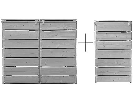 65 x 75 x 115 cm Gelb Habau Mülltonnenverkleidung Mülltonnenbox 120