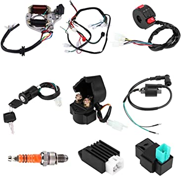 wiring harness kit for atv amazon com harness assembly wiring kit  complete electrics cdi  amazon com harness assembly wiring kit