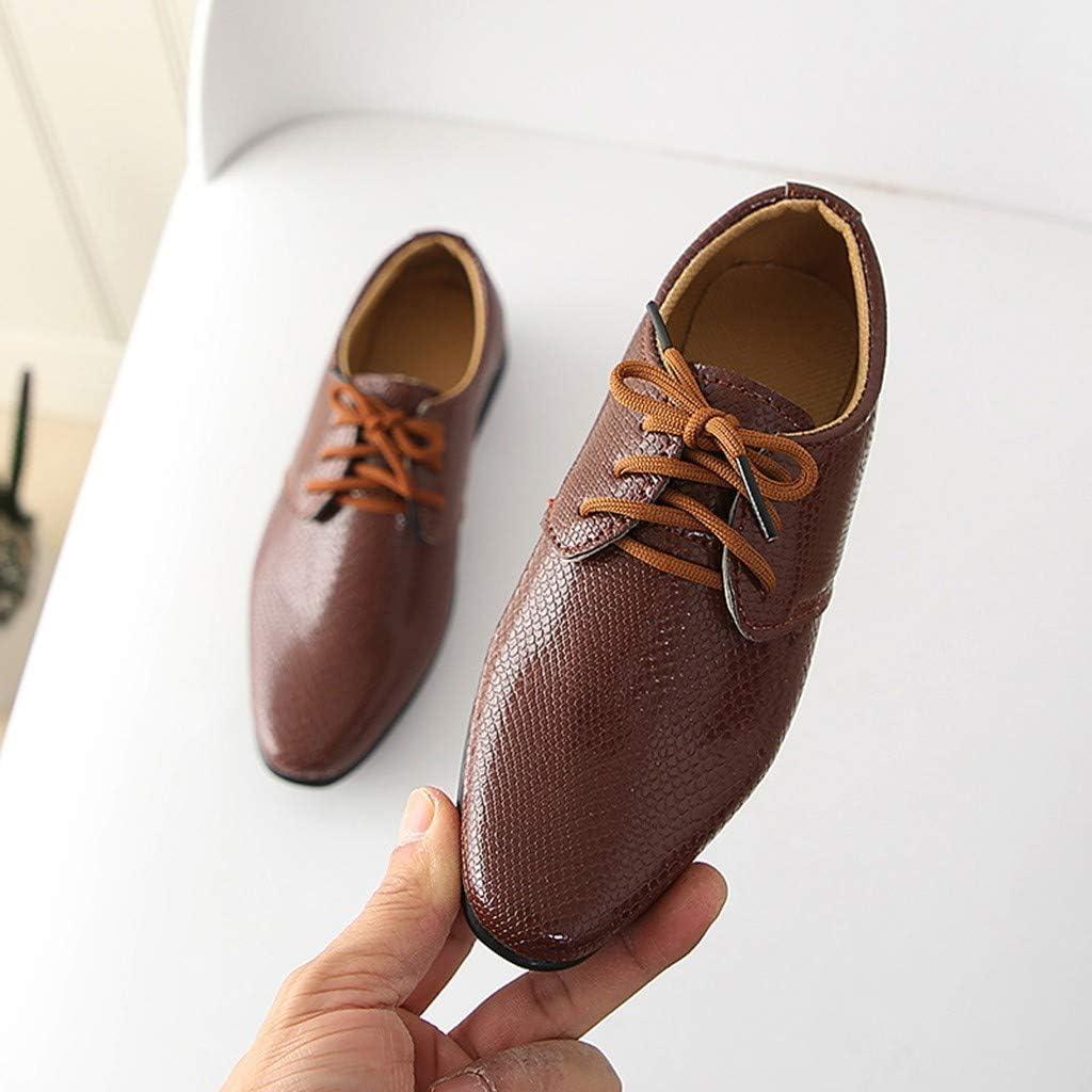 Junge Schuhe Schn/ürhalbschuhe Elegant Oxford Anzug Leder Derby M/änner Lackleder Lederschuhe Pingtr Lederschuhe Junge
