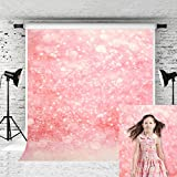 Kate 5x7feet Backdrop Glitter Baby Pink Shinny Spot Fantasy Background for Photography Photo Booth Backdrop Studio Props