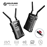 Hollyland Mars 400S Wireless SDI HDMI Video Transmission System, iOS & Android App Monitoring with OLED Display, 400ft 3 Scene Modes for External On-Camera Monitor DSLR Mirrorless Camera Gimbal