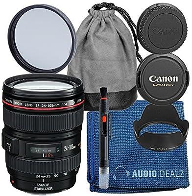 Canon EF 24 – 105 mm f/4 L IS USM Lens (Caja Blanca) + Lente Kit ...