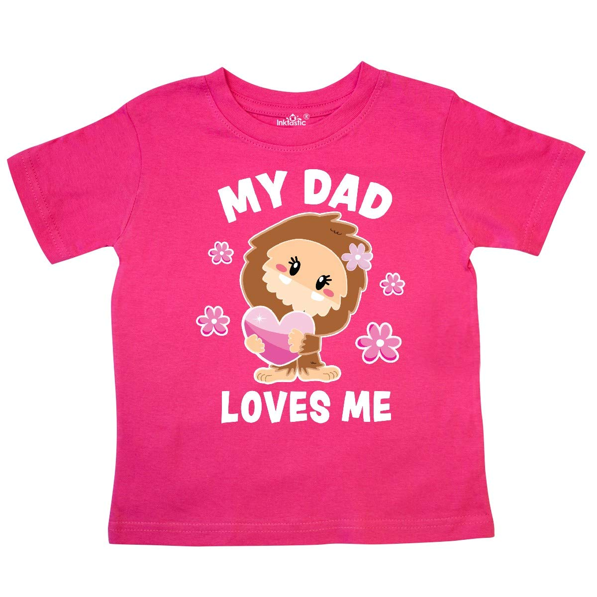 inktastic My Dad Loves Me with Bigfoot Toddler T-Shirt
