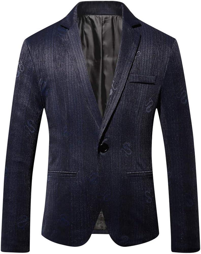 Mens 1 Button Print Dress Suit Jacket Slim Fit Floral Blazer Dinner Sport Coat