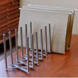 "Adjustable Table Desk Top File Magazine Holder Stacking Sorter 8 Sectional Extends up to 28"" Length Stainless Steel"