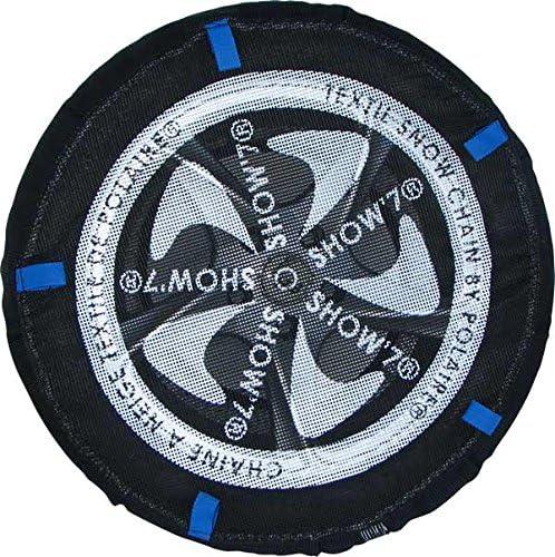 Chaussette neige textile pneu 265//60R18 excellente protection de la jante Valise comprenant 2 chaines textile et 1 paire de gants