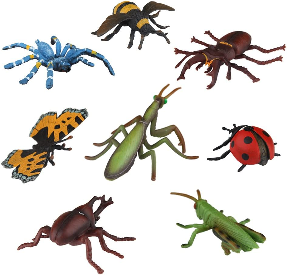 Ericoo Animal Figurines Toys Sets Educational Resource Reallistic Insects Figures for Toddlers with CPC Approval and ASTM Test -Anim007