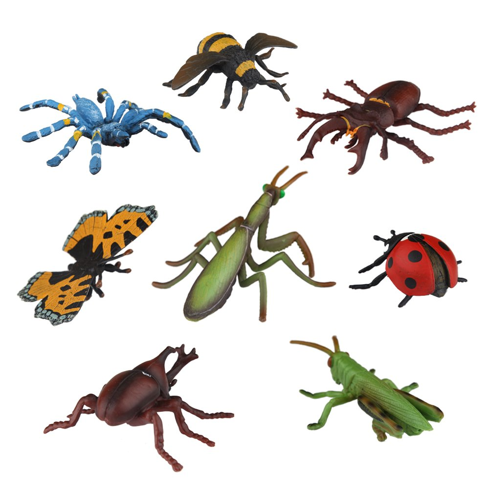 Ericoo Animal Figurines Toys Sets Educational Resource Reallistic Insects Figures for Toddlers with CPC Approval and ASTM Test Anim007