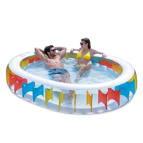 Piscinas hinchables XULAN Piscina inflable Piscina para niños Trompeta Piscina grande para adultos Piscina para adultos