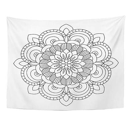 Amazon Com Emvency Wall Tapestry Arab Flower Mandala Oriental